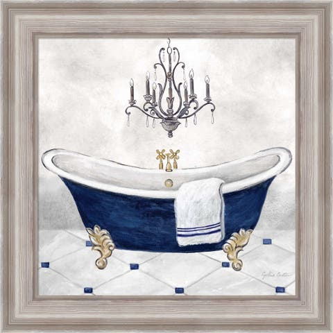 Cynthia Coulter 'Navy Blue Bath II' Framed Art