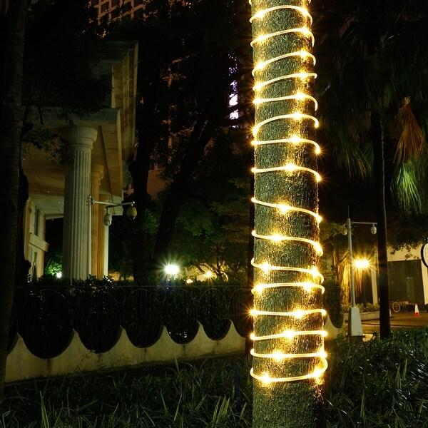 Shop solar waterproof 426ft 100led rope lights w 2400mah high solar waterproof 426ft 100led rope lights w 2400mah high capacity battery 8 model warm aloadofball Gallery