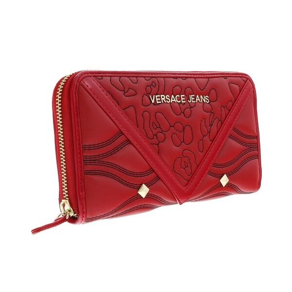 Versace EE3VOBPK2 E500 Red Multifunction Wallet - 7.5-4.25-1
