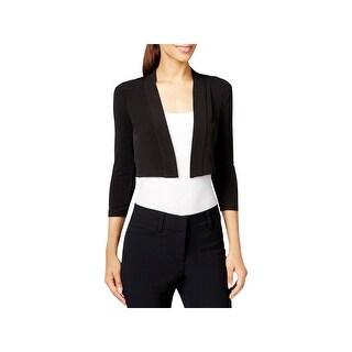 Calvin Klein Womens Petites Cardigan Sweater Open, No Collar 3/4 Sleeves