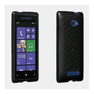 Verizon Wireless High Gloss Silicone Cover for HTC Windows Phone 8X - Black