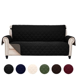 Link to Reversible Quilted Microfiber Slipcover Sofa Couch Furniture Pet Protector Cover Similar Items in Slipcovers & Furniture Covers