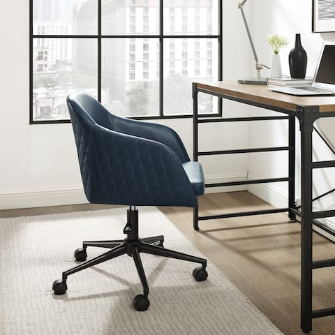 Carson Carrington Quilted Upholstered Swivel Office Chair