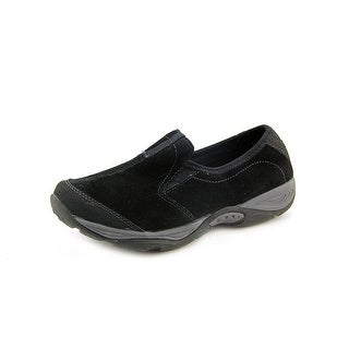 Easy Spirit Evyn Women W Round Toe Leather Black Loafer