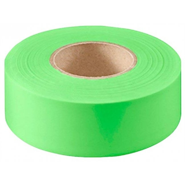 CH Hanson 17004 Fluorescent Green Flagging Tape, 4 Mil, 1-3/16 x 150