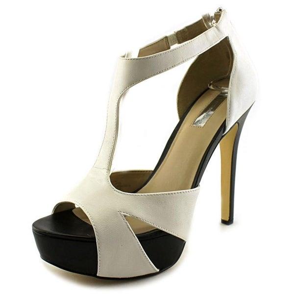 INC International Concepts Women Meldah Platform Sandals White Size 10.0