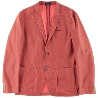 Argyle Culture Mens Cotton Notch Collar Blazer - M