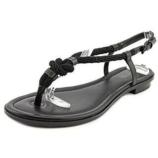 Michael Kors Holly Womens Black Leather Gladiator Sandal