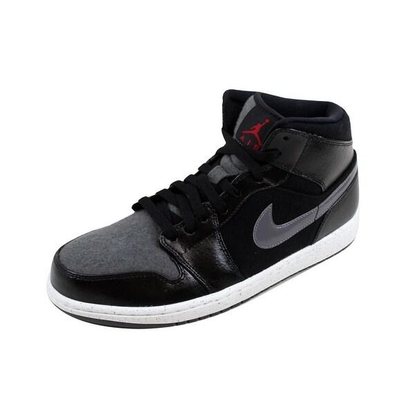 uk availability 4848a a51c8 Nike Men  x27 s Air Jordan I 1 Mid Premium Black Gym Red