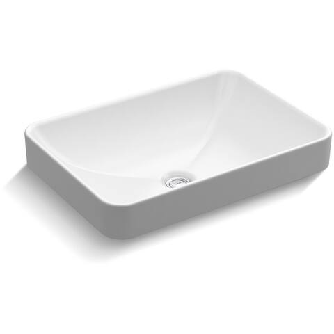 "Kohler K-5373 22-5/8"" Vox Rectangle Vessel Sink with Overflow - White"