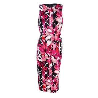 Vince Camuto Women's Floral Printed Bodycon Sheath Dress