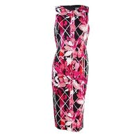 Vince Camuto Women's Floral Printed Bodycon Sheath Dress - Print