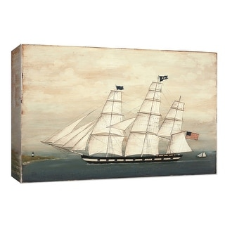 "PTM Images 9-154004  PTM Canvas Collection 8"" x 10"" - ""Tall Ship II"" Giclee Nautical and Ocean Art Print on Canvas"