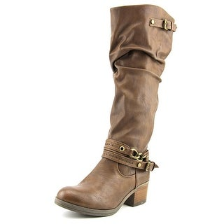Carlos Santana Cassie Women Round Toe Synthetic Brown Knee High Boot