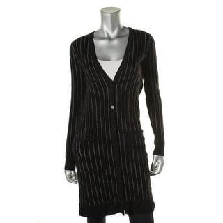 Lauren Ralph Lauren Womens Wool Pinstripe Cardigan Sweater