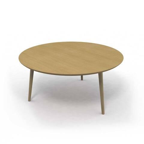 Jamesdar Blythe 30-inch Round Wood Coffee Table