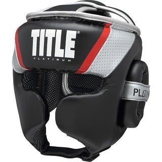 Title Boxing Platinum Primetime Lightweight Training Headgear - Black/Silver