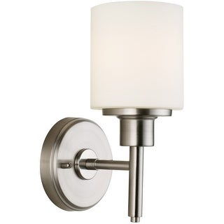 Design House 556183 Aubrey Indoor Wall Mount 1-Light Fixture, Satin Nickel