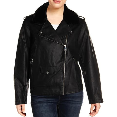 Levi's Womens Bomber Jacket Faux Leather Motorcycle