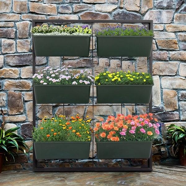Shop Kinsunny 3-Tier Vertical Garden Wall Planter, Wall