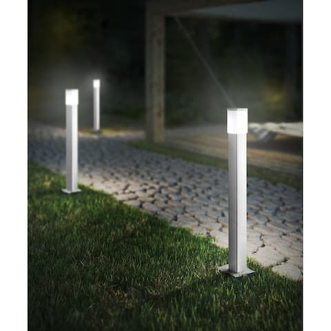 Calgary Outdoor Post Light with Stainless Steel Finish