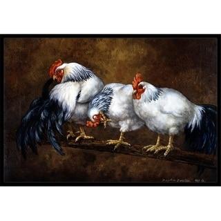Carolines Treasures BDBA0081MAT Roosting Rooster & Chickens Indoor or Outdoor Mat 18 x 27