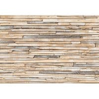 Brewster 8-920 Whitewashed Wood Wall Mural - N/A