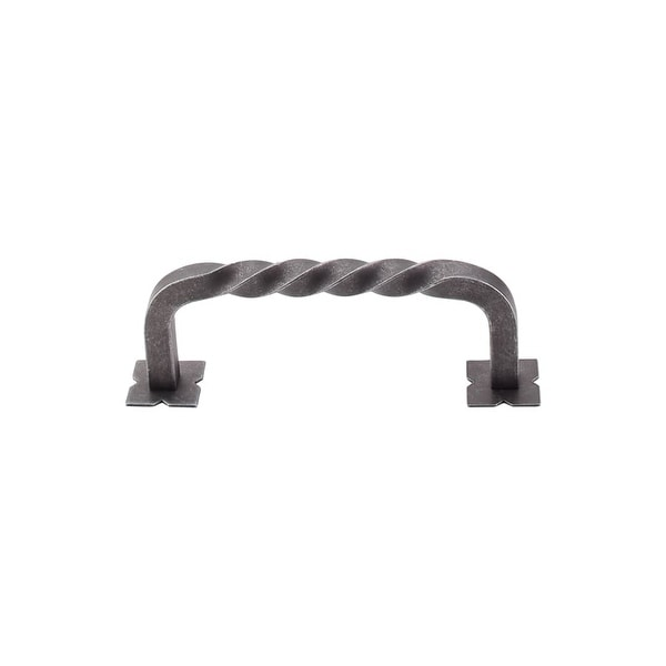 "Top Knobs M712 Twist 3-3/4"" Center to Center Handle Cabinet Pull from the Normandy Series - PEWTER"