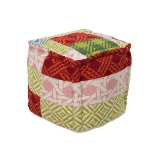 Groovy 18 Red Green And Pink Plaid Cross Pattern Wool Square Pouf Ottoman N A Overstock Com Shopping The Best Deals On Ottomans Cjindustries Chair Design For Home Cjindustriesco