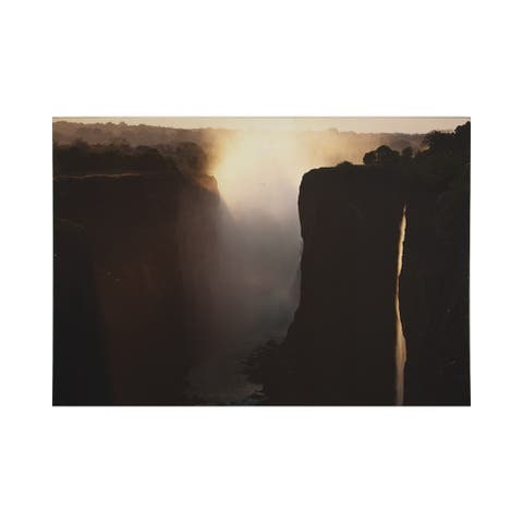 """Graham and Brown 104569 Twilight Peaks 28"""" x 39"""" Frameless Landscape Painting on Stretched Canvas - Neutral"""