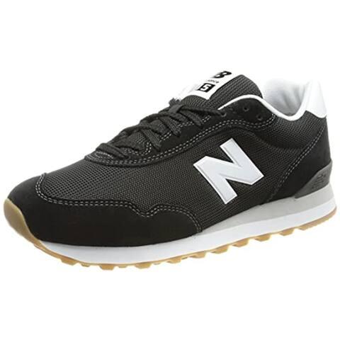 New Balance Men's 515 Sneaker, Black/Munsell White, 12