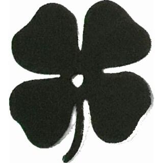 "Four Leaf Clover Metal Silhouettes - Size - 3"" width - Color - Black"
