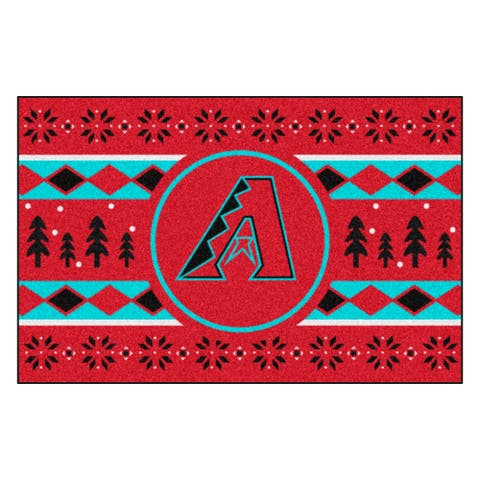 "Red and Black MLB Arizona Diamondbacks Rectangular Sweater Starter Mat 30"" x 19"" - N/A"