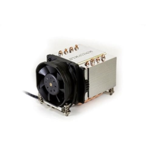 Dynatron Fan A24 AMD AM4 PWM fan Aluminum fins with Heat Pipes 2U Server amd Up 12V Brown Box