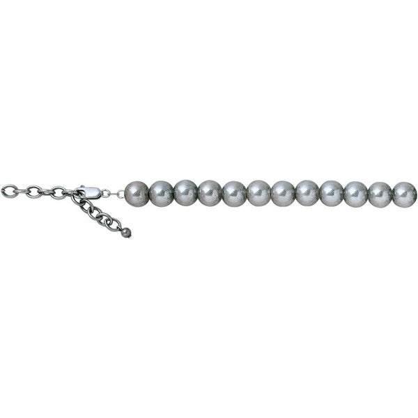 """Vogt Western Women Necklace 10mm Beaded Chain 16"""" Silver 016-072"""