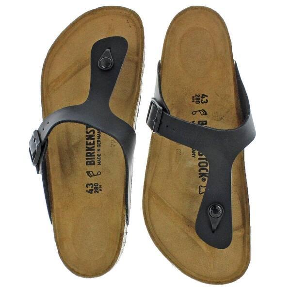 low priced 68a86 db165 Shop Birkenstock Womens Gizeh T-Strap Sandals Birko-Flor ...