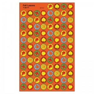 Trend Enterprises Fall Leaves Superspot Shapes Stickers - Pack of 12