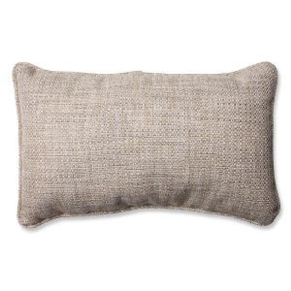 Amazing Gray Textured Rectangular Throw Pillow 18.5""