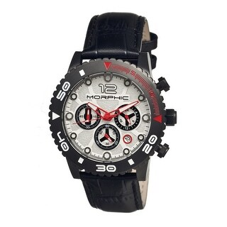 Morphic M33 Series Men's Quartz Chronograph Watch, Genuine Leather Band, Luminous Hands