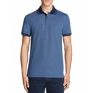 Michael Kors NEW Blue Mens Size Small S Polo Rugby Short Sleeve Shirt