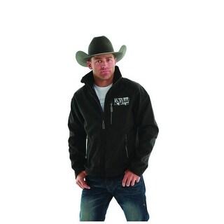 B. Tuff Western Jacket Mens Outerwear Microfiber Black