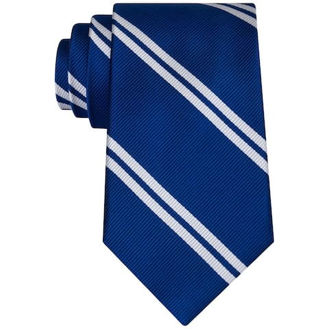 Club Room Mens Double Awning Necktie, blue, One Size - One Size