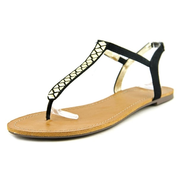 Material Girl Sage Open Toe Suede Thong Sandal
