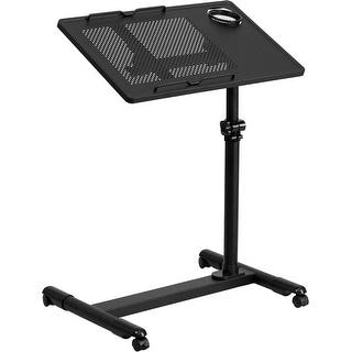 Shasta Black Adjustable Height Steel portable Computer Desk