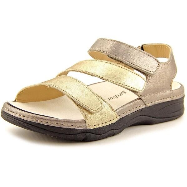Barefoot Freedom by Drew Angela Women W Open Toe Leather Slides Sandal