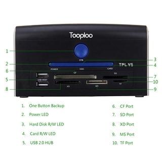 "2.5"" 3.5"" IDE SATA eSATA USB Port OTB Card Reader HDD Docking Station US Stock"