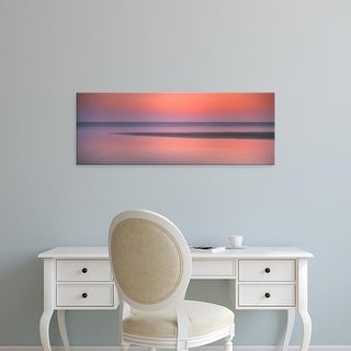 Easy Art Prints Panoramic Images's 'Sunset over the sea, Goa, India' Premium Canvas Art