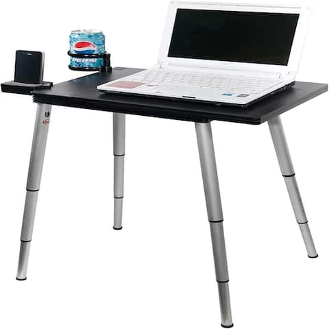 Black Collapsible Portable Compact Lightweight Adjustable Height LaptopTable Foldable Desk Ergonomic Convert Standing Desk