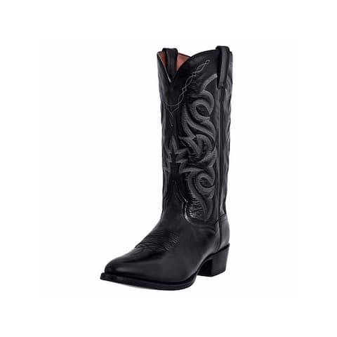 Dan Post Western Boots Mens Milwaukee Leather Round Toe Black - Black Mignon Corona