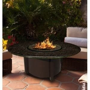 California Outdoor Concepts 5010-BR-PG11-BM-42 Carmel Chat Height Fire Pit-Br...